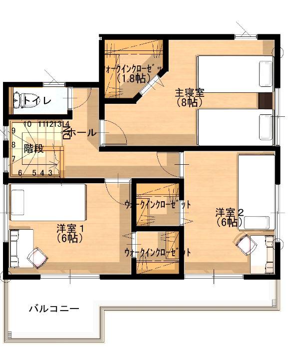 各部屋にたっぷり収納出来るウォークインクローゼットはお部屋を広々使えて嬉しいですね。
