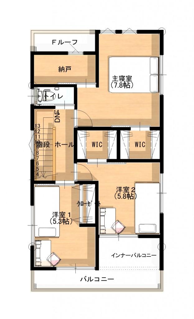 2階 平面図 (2)