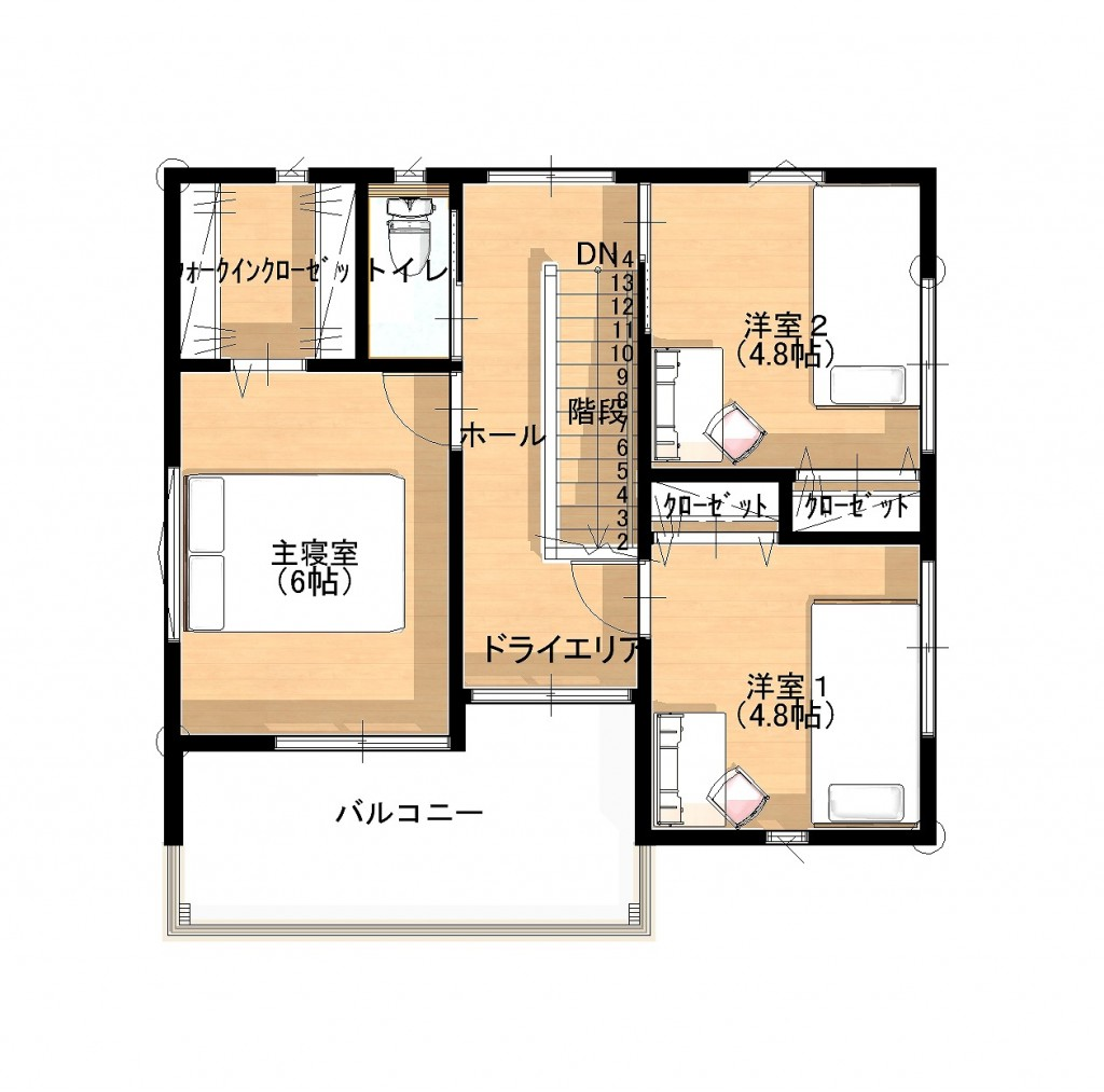 2階 間取り図